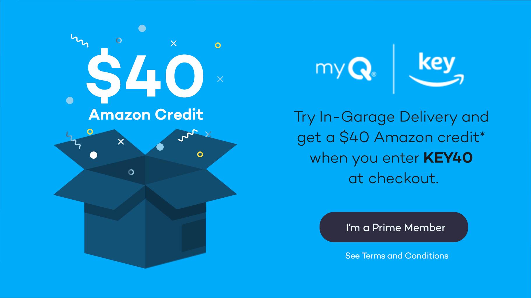Crédit de 40$ d'Amazon